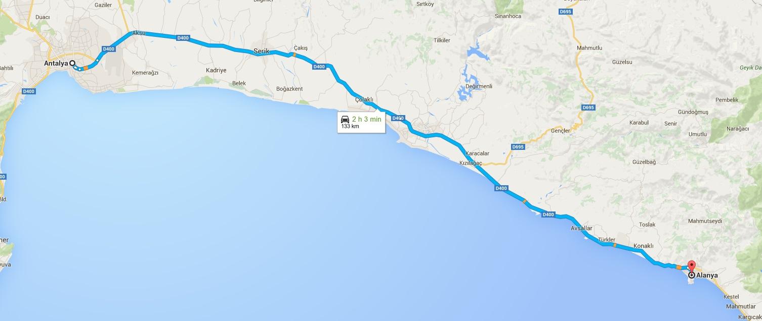 Gale - Antalya_Alanya_Map